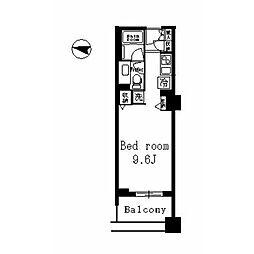 レグノ・セレーノ 3階ワンルームの間取り