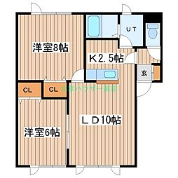 北海道札幌市東区北十条東17丁目の賃貸マンションの間取り