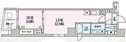 JR京浜東北・根岸線 大宮駅 徒歩10分の賃貸マンション 2階1LDKの間取り