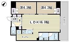 パークキューブ西ヶ原ステージ[817号室]の間取り