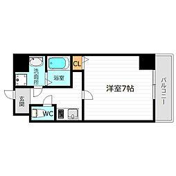 Osaka Metro谷町線 太子橋今市駅 徒歩5分の賃貸マンション 9階1Kの間取り