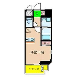 ONLYONE伊丹北本町 5階ワンルームの間取り