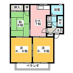 セントフォーレス C[2階]の間取り