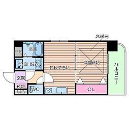 アルグラッド新福島[7階]の間取り