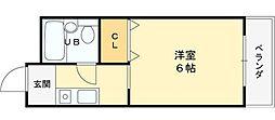 若江岩田駅徒歩5分 ハイム・瓜生堂[103号室]の間取り