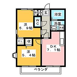 フォレスト・ビューII[2階]の間取り