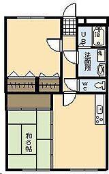 リージングマンション B棟[305号室]の間取り