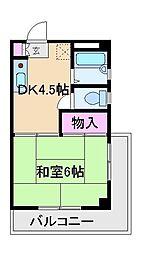 石塚ハイツ[2階]の間取り