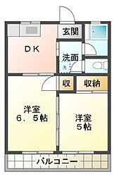 千葉県習志野市屋敷2丁目の賃貸マンションの間取り