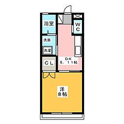 三和伊勢崎1棟[2階]の間取り
