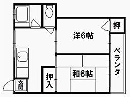 紫竹ハイム[4階]の間取り