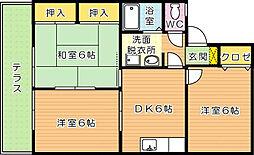 セジュール日吉[1階]の間取り
