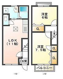 GRANPA21(グランパ21)[1階]の間取り