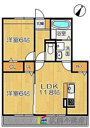 (仮)D-room兵庫北二丁目[203号室]の間取り