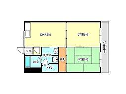 兵庫県神戸市垂水区霞ケ丘7丁目の賃貸マンションの間取り