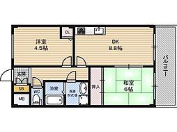 シャトレー新大阪[1階]の間取り