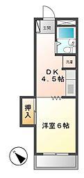 エクセル東和[5階]の間取り