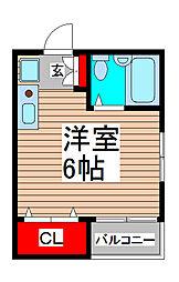 サンハイツ南浦和[2階]の間取り