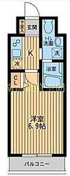 HF関内レジデンス[2階]の間取り
