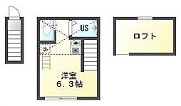仮)バーミープレイス武蔵小金井III[2階]の間取り