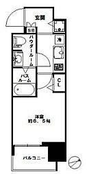 スワンズシティ北堀江[8階]の間取り