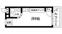 ピュアハウス甲子園[301号室]の間取り