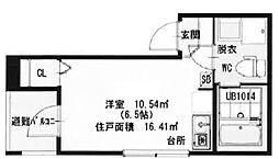 東京都北区豊島8丁目の賃貸アパートの間取り