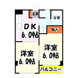 MKC西新井橋ハイツ[3階]の間取り