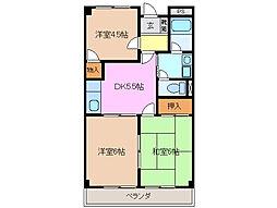 グレイスタウンMIWA B棟[1階]の間取り