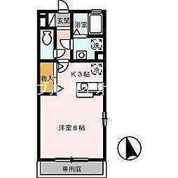 岡山県倉敷市水島西寿町の賃貸アパートの間取り
