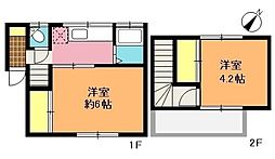 [テラスハウス] 埼玉県上尾市富士見1丁目 の賃貸【/】の間取り