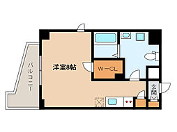 JR東海道・山陽本線 灘駅 徒歩3分の賃貸マンション 4階ワンルームの間取り