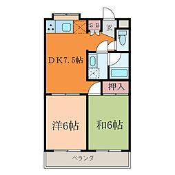 KBコート本町II[7階]の間取り