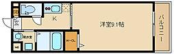 大阪府藤井寺市野中5丁目の賃貸アパートの間取り