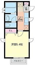 K'SアパートメントII[102号室号室]の間取り