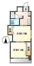 プレステージ名古屋[6階]の間取り