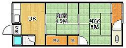 第一勝平荘[103号室]の間取り