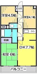 恋ヶ窪378レジデンス[2階]の間取り