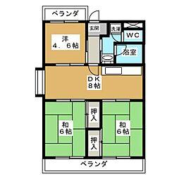 メゾンドール的場[5階]の間取り