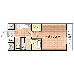 彩都シオン[4階]の間取り