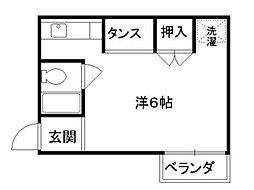リエス東堀川[5階]の間取り