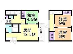 一棟二戸(6-6) 1階3LDKの間取り