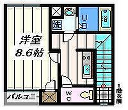 埼玉県八潮市南川崎の賃貸アパートの間取り