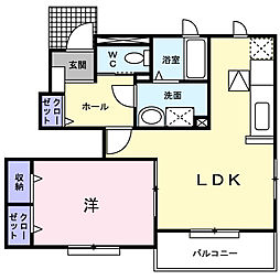 大阪府堺市南区豊田の賃貸アパートの間取り