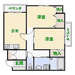 ムーンハイツマリコ10[4階]の間取り