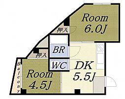 藤田ホワイトマンション[4階]の間取り