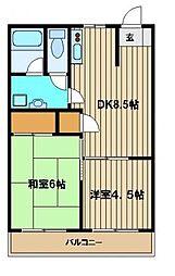 シャトークリスタル[1階]の間取り