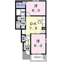 マーチ・グレイス弐番館 B[0104号室]の間取り