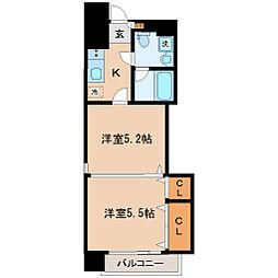 定禅寺HILL[9階]の間取り