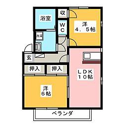 ガーデンコート千代田A〜E[1階]の間取り